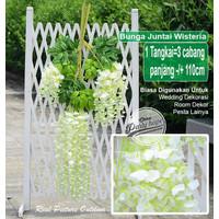 Daun Wisteria / Daun bunga Juntai Daun Rambat Bunga Plastik Artificial
