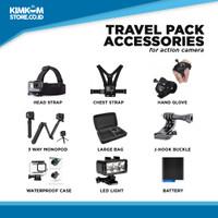 Travel Pack Aksesoris Action Camera GoPro, Xiaomi Yi, SJ Cam, Bpro - Travel Pack