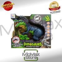 Dinosaurs Play World Light Sound Mainan Dinosaurus T-Rex Hijau