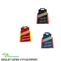 Baju Singlet Badminton Bulutangkis Import Yonex Y711 Y 711 Lin Dan GO