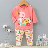 Baju Tidur Anak Perempuan Import FLAMINGGO Size 9-12 th PJMS375-057