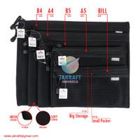 Zipper Document Bag Bill JOYKO DCB-49 Giro Tempat Pensil Alat Tulis