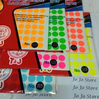 Label Tom and Jerry Bulat Warna no. 115 diameter 17 mm