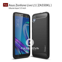 SOFTCASE ASUS ZENFONE LIVE L1 ~ SOFTCASE IPAKY CARBON ~ MA