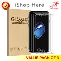 3 Buah Premium Tempered Glass / Anti Gores Bening iPhone 7 8 SE 2020