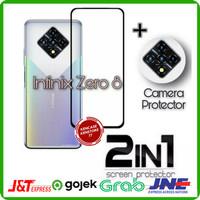 Tempered Glass Infinix Zero 8 Full Cover + Anti Gores Kamera Belakang