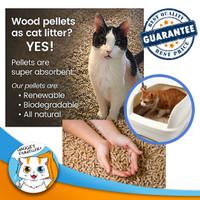 Organic Wood Cat Litter 1kg - Pasir Kucing Pelet Serbuk Kayu Organik