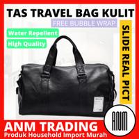 Tas Travel / GYM / Sport Bag Pria Wanita Unisex Kulit - Hitam