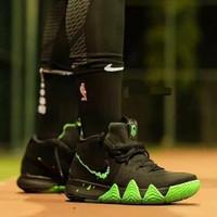 sepatu basket Nike kyrie 4 Halloween black green