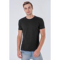 T Shirt Baju Kaos Pria Slim Fit 814 Hitam