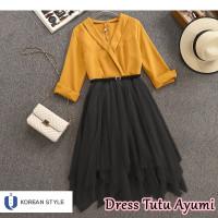 Baju Maxi Dress Wanita Korea Style Model Panjang Casual Kekinian DK02