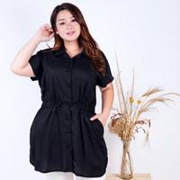 Blouse Wanita jumbo LD 110 Fit 2XL Atasan Baju Lengan Pendek Rebecca - Coksu