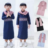 Baju Koko Jubah Gamis Tangan Panjang Anak Laki Laki Hijrah