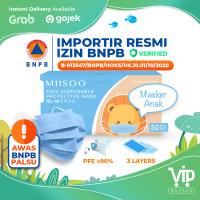 Masker Anak Earloop Facemask 50s Masker Wajah Kesehatan 3ply BNPB