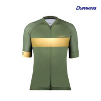 DK Cycling Jersey - Olive Gold Strip