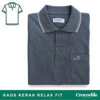 Crocodile COLE Smoke - Baju Kaos Kerah Pria Men Original Relax fit