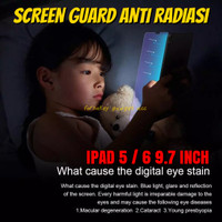 iPad 5 6 9.7 2017 2018 Anti Gores UV Radiasi Blue Light Tempered Glass