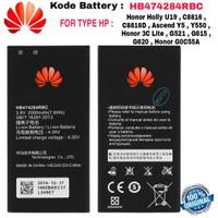 Baterai Original Honor 3C Lite G0C55A Ascend Y5 Y550 G620 HB474284RBC