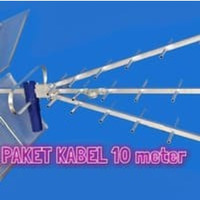 Paket antena tv Titis tt1000 & Kabel Belden 10m & Jack L Taiwan