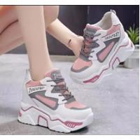 Sepatu sneakers wanita Korean BOOTS NEW model - Merah Muda, 37