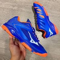 Sepatu Volly Mizuno Wave Lightning 5 Low Blue Orange