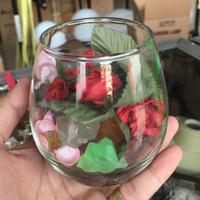 Aquarium mini Cupang Ikan Hias Akuarium Vas Vase bunga Kaca wadah
