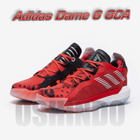 Sepatu Basket Adidas Dame 6 Geek Up Glory Red Original Asli