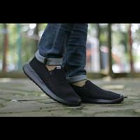 Sepatu pria Slip on Big size jumbo 44-45-46 Adidas Cloudfoam