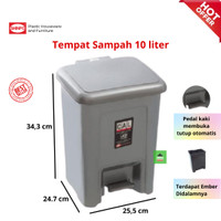 Tempat Sampah Injak / Step on Dustbin 10ltr 710 Shinpo