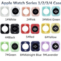 Rubber silicon bumper Case apple watch iwatch 42mm 44mm 40mm IWO 8 TPU