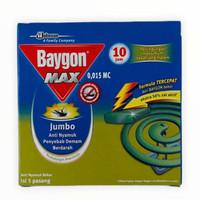 BAYGON MAX Jumbo Obat Nyamuk Bakar Per Kotak isi 5 Psg Pengusir Nyamuk
