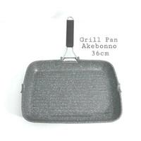 Wajan Grill Pan Marble Aluminium Anti Lengket 36 x 27 cm Akebonno
