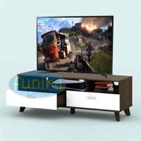 Rak Meja Tv Ruang Tamu Arsen 120 cm LVR 122 VALAX Minimalis Laci Gojek