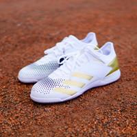 Sepatu Futsal Adidas Predator 20.3 L IN - White/Gold FW9192 Original