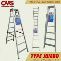Tangga Lipat Aluminium 2 Meter Jumbo Tebal & Anti Karat - JM200