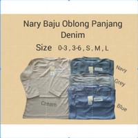 Nary Baju Oblong Panjang Denim / Baju Atasan Anak / Baju Bayi
