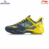 Limited Sepatu Badminton Lining AYZQ009 Sonic Boom OP Blue Yellow