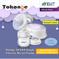 Pompa asi philips avent breast pump single electric natural free apron