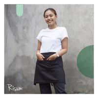Half/ waist apron Risum - Black - Hitam