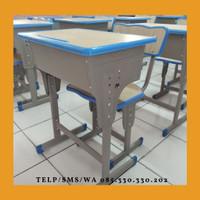 D10 meja kursi bangku sekolah rangka besi modern harga murah SD SMP