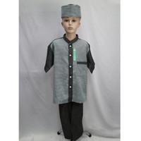 Jual Baju Koko Setelan Anak Laki - laki Lengan Pendek TK SD SMP Baru - Hijau, 13-14 tahun