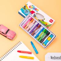 Deli Oil pastel warna cerah 12/18/24/36 dengan rautan pensil 7205X