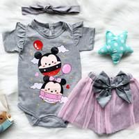 Jumper bayi fashion cewek 0-18 bulan tsum tsum tutu pants