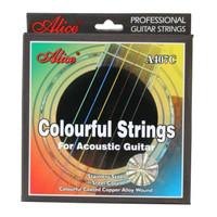Senar Gitar Akustik Pelangi Alice A407C Colorful Strings