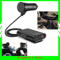 Car Charger Mobil Fast Charging 3.1A Qualcomm Quick Charger 4 Port USB