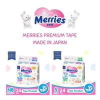 Merries Premium Tape Popok Bayi Perekat New Born NewBorn NB24 S24