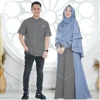 NIZAR COUPLE Baju Couple Pasangan Muslim Gamis Pasangan Set Couple