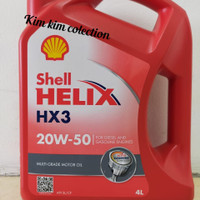 Shell Helix - Hx3 Sae 20W-50 20W50 Oil Oli Mobil Galon 4L