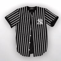 kemeja baseball baju baseball kaos baseball NY