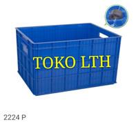 CONTAINER BOX INDUSTRI SERBAGUNA RODA 2224 P GREEN LEAF / BAK BESAR
